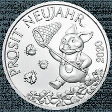 Glücksjeton 2020, in Silber
